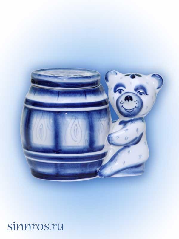 Бочонок под мёд с медведем